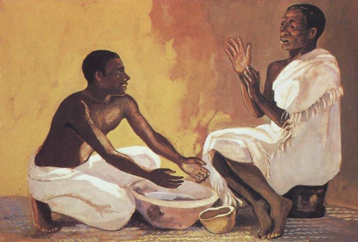 Jesus washes his disciples' feet - John 13:1-17